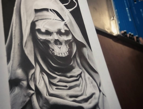 Almost done… #realism #pencildrawing #londonartist  #skull #reaper #death…
